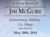 James McGuire Bookmark Front, Couresy of the McGuire Family