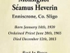 Seamus Heverin Bookmark Front. Courtesy of Heverin Family